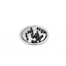 Beads Shungite polished 6 mm of With Hole 10 pcs
