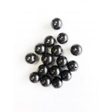 Beads Shungite polished 8 mm of With Hole 10 pcs