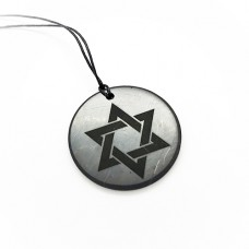 NEW! Pendant David`s star  with Engraving 50 mm