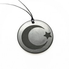NEW! Pendant Islamic Crescend with Engraving 50 mm