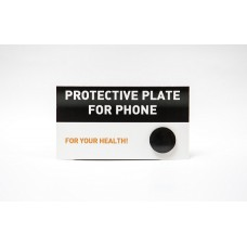 Circular shungite plate for cell phone, polished (20mm)
