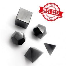 SHUNGITE PLATONIC SOLIDS (5 ELEMENTS), 40 mm