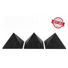 3 Unpolished shungite pyramid 100x100mm