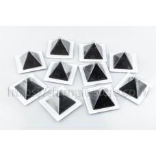 10 Polished shungite pyramid 40x40mm