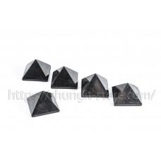 Set of 5 polished Shungite pyramids 50 mm