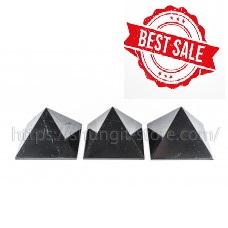3 Polished shungite pyramid 100x100mm