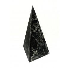 Unpolished high shungite pyramid with quartz 100x100mm