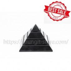 100mm Polished shungite pyramid Sakkara
