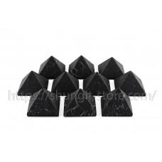 10 Unpolished shungite pyramids 40x40mm