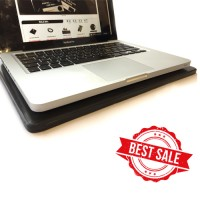 Shungite EMF protection stand for a laptop
