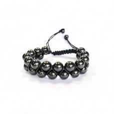 Shungite Oriental Bracelet, crosswise rows (8 mm beads)