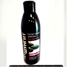 Thick Black Shampoo for oily hair based on shungite