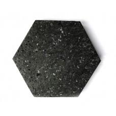 Unpolished  Shungite Hexagon Tile 20x20x2 cm