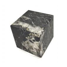 Unpolished  shungite Cube with quartz 50x50mm