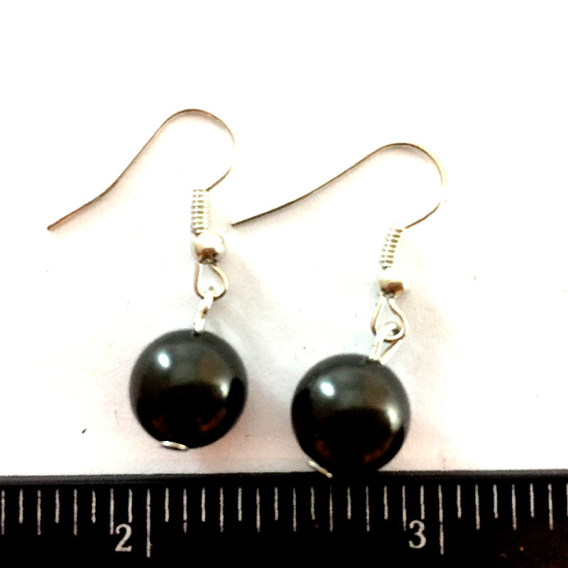 Earrings The Black pearl shungite 02