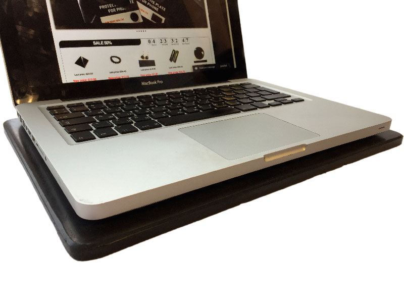 Shungite EMF protection stand for a laptop 01